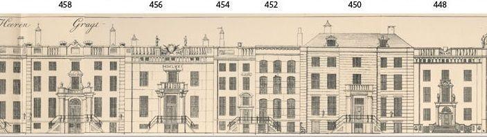 Amsterdamse Grachtenhuizen, tekening